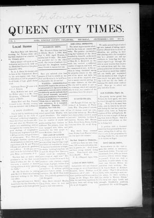 Primary view of object titled 'Queen City Times. (Agra, Okla.), Vol. 4, No. 52, Ed. 1 Thursday, September 8, 1910'.