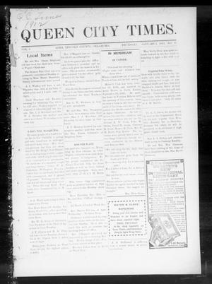 Primary view of object titled 'Queen City Times. (Agra, Okla.), Vol. 6, No. 17, Ed. 1 Thursday, January 4, 1912'.