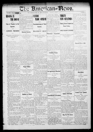 Primary view of object titled 'The American--News. (El Reno, Okla.), Vol. 6, No. 49, Ed. 1 Thursday, March 5, 1903'.