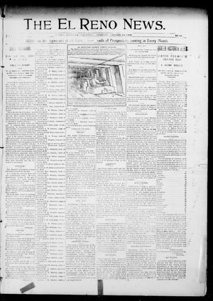 Primary view of object titled 'The El Reno News. (El Reno, Okla. Terr.), Vol. 5, No. 43, Ed. 1 Thursday, January 24, 1901'.