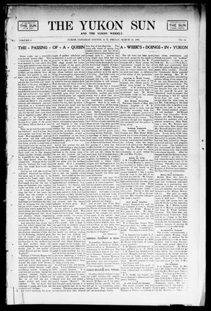 Primary view of object titled 'The Yukon Sun And The Yukon Weekly. (Yukon, Okla. Terr.), Vol. 9, No. 11, Ed. 1 Friday, March 15, 1901'.