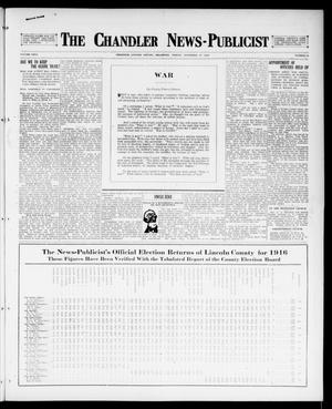 Primary view of object titled 'The Chandler News-Publicist (Chandler, Okla.), Vol. 26, No. 10, Ed. 1 Friday, November 17, 1916'.