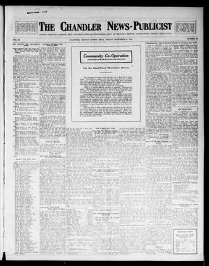 Primary view of object titled 'The Chandler News-Publicist (Chandler, Okla.), Vol. 23, No. 10, Ed. 1 Friday, November 21, 1913'.