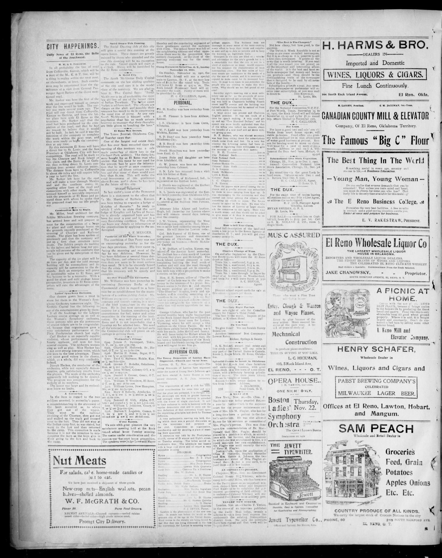 The El Reno American--News  (El Reno, Okla  Terr ), Vol  6