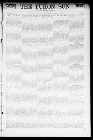 Primary view of object titled 'The Yukon Sun And The Yukon Weekly. (Yukon, Okla. Terr.), Vol. 10, No. 9, Ed. 1 Friday, February 28, 1902'.