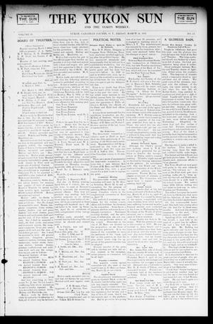 Primary view of object titled 'The Yukon Sun And The Yukon Weekly. (Yukon, Okla. Terr.), Vol. 10, No. 11, Ed. 1 Friday, March 14, 1902'.