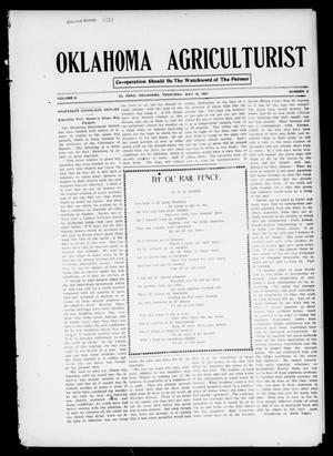 Primary view of object titled 'Oklahoma Agriculturist (El Reno, Okla.), Vol. 2, No. 5, Ed. 1 Thursday, May 16, 1907'.