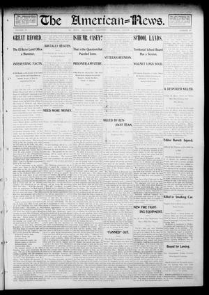 Primary view of object titled 'The American--News. (El Reno, Okla. Terr.), Vol. 6, No. 18, Ed. 1 Thursday, August 14, 1902'.