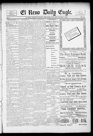 Primary view of object titled 'El Reno Daily Eagle. (El Reno, Okla.), Vol. 1, No. 135, Ed. 1 Saturday, March 9, 1895'.