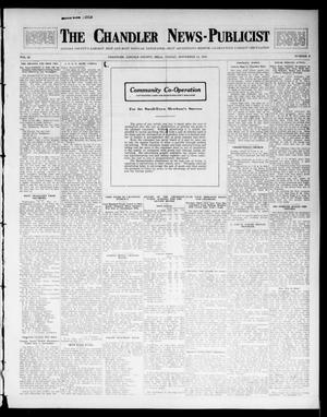 Primary view of object titled 'The Chandler News-Publicist (Chandler, Okla.), Vol. 23, No. 9, Ed. 1 Friday, November 14, 1913'.