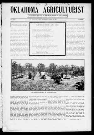Primary view of object titled 'Oklahoma Agriculturist (El Reno, Okla.), Vol. 1, No. 2, Ed. 1 Thursday, March 29, 1906'.