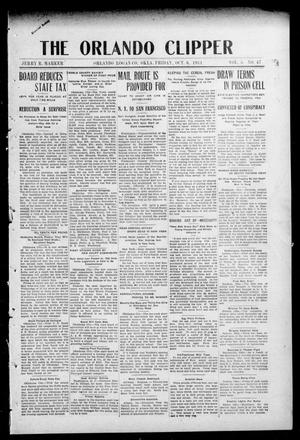 Primary view of object titled 'The Orlando Clipper (Orlando, Okla.), Vol. 5, No. 47, Ed. 1 Friday, October 6, 1911'.