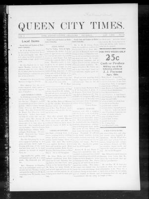 Primary view of object titled 'Queen City Times. (Agra, Okla.), Vol. 4, No. 34, Ed. 1 Thursday, May 5, 1910'.