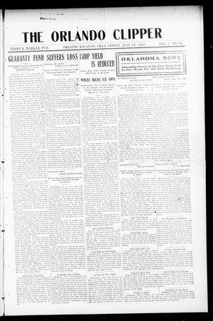 Primary view of object titled 'The Orlando Clipper (Orlando, Okla.), Vol. 5, No. 35, Ed. 1 Friday, July 14, 1911'.
