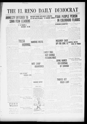 Primary view of object titled 'The El Reno Daily Democrat (El Reno, Okla.), Vol. 31, No. 43, Ed. 1 Saturday, June 4, 1921'.