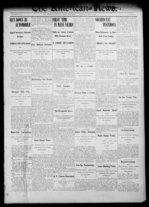 Primary view of object titled 'The American--News. (El Reno, Okla.), Vol. 7, No. 1, Ed. 1 Thursday, April 2, 1903'.