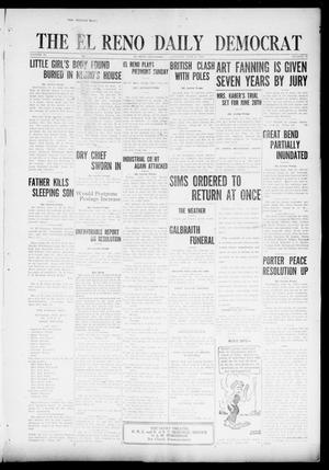 Primary view of object titled 'The El Reno Daily Democrat (El Reno, Okla.), Vol. 31, No. 49, Ed. 1 Saturday, June 11, 1921'.