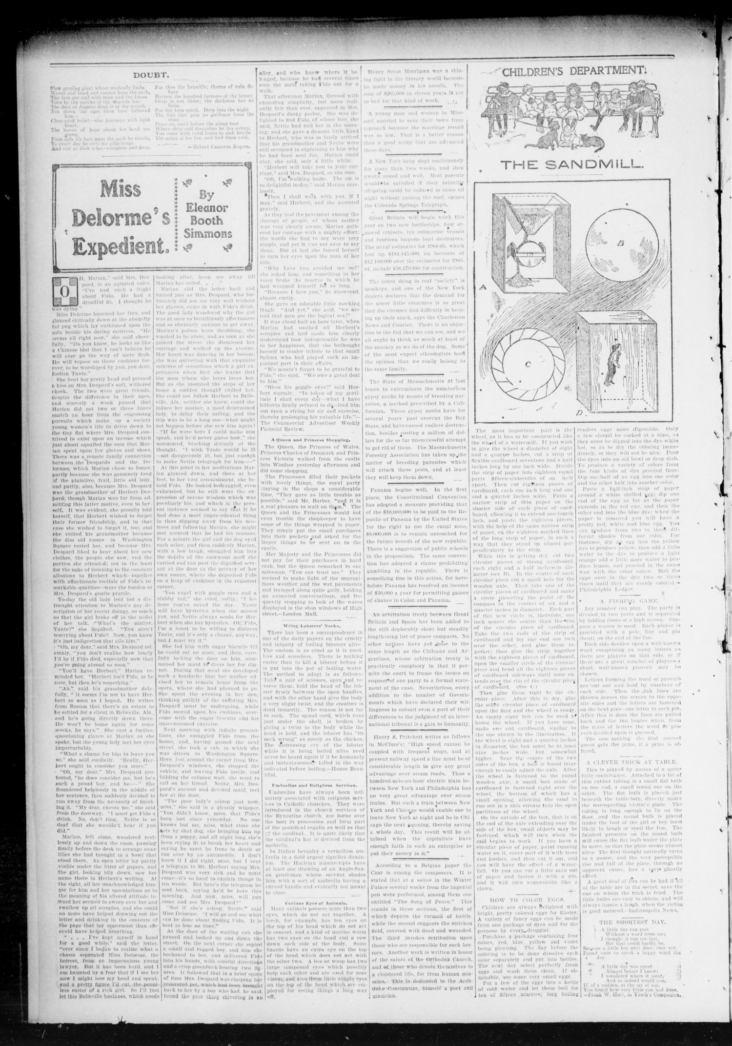 Chandler Daily Publicist. (Chandler, Okla. Terr.), Vol. 3, No. 13, Ed. 1 Friday, April 15, 1904                                                                                                      [Sequence #]: 4 of 4