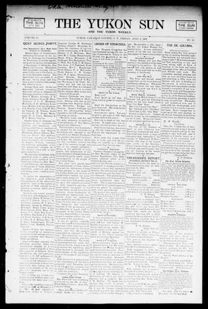 Primary view of object titled 'The Yukon Sun And The Yukon Weekly. (Yukon, Okla. Terr.), Vol. 10, No. 27, Ed. 1 Friday, July 4, 1902'.