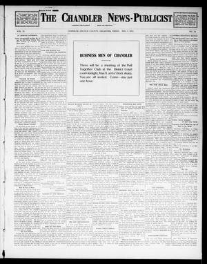 Primary view of object titled 'The Chandler News-Publicist (Chandler, Okla.), Vol. 22, No. 34, Ed. 1 Friday, May 9, 1913'.
