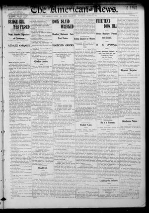 Primary view of object titled 'The American--News. (El Reno, Okla.), Vol. 6, No. 51, Ed. 1 Thursday, March 19, 1903'.