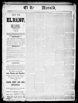 Primary view of El Reno Herald. (El Reno, Okla., Indian Terr.), Vol. 3, No. [9], Ed. 1 Friday, August 14, 1891