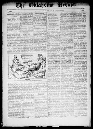 Primary view of object titled 'The Oklahoma Herald. (El Reno, Okla. Terr.), Vol. 4, No. 29, Ed. 1 Friday, November 4, 1892'.