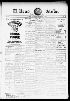Primary view of object titled 'El Reno Daily Globe. And Evening Bell. (El Reno, Okla.), Vol. 8, No. 189, Ed. 1 Saturday, April 4, 1903'.