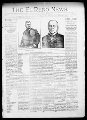 Primary view of object titled 'The El Reno News. (El Reno, Okla. Terr.), Vol. 5, No. 49, Ed. 1 Thursday, March 7, 1901'.