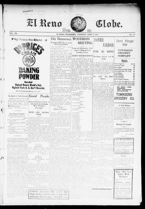 Primary view of object titled 'El Reno Daily Globe. And Evening Bell. (El Reno, Okla.), Vol. 8, No. 188, Ed. 1 Friday, April 3, 1903'.