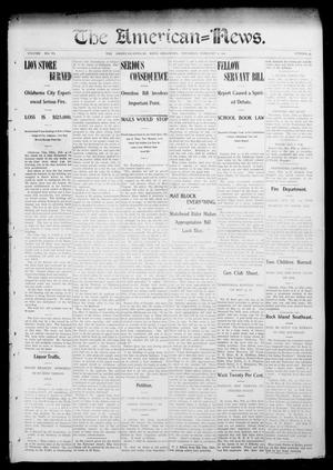 Primary view of object titled 'The American--News. (El Reno, Okla.), Vol. 6, No. 45, Ed. 1 Thursday, February 5, 1903'.