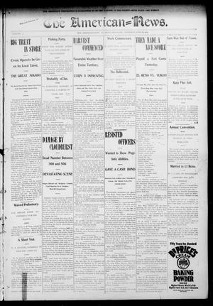 Primary view of object titled 'The American--News. (El Reno, Okla.), Vol. 9, No. 10, Ed. 1 Thursday, June 18, 1903'.