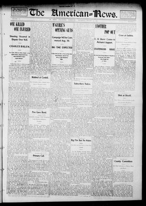 Primary view of object titled 'The American--News. (El Reno, Okla. Terr.), Vol. 6, No. 19, Ed. 1 Thursday, August 21, 1902'.
