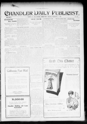 Primary view of object titled 'Chandler Daily Publicist. (Chandler, Okla. Terr.), Vol. 3, No. 264, Ed. 1 Friday, February 3, 1905'.