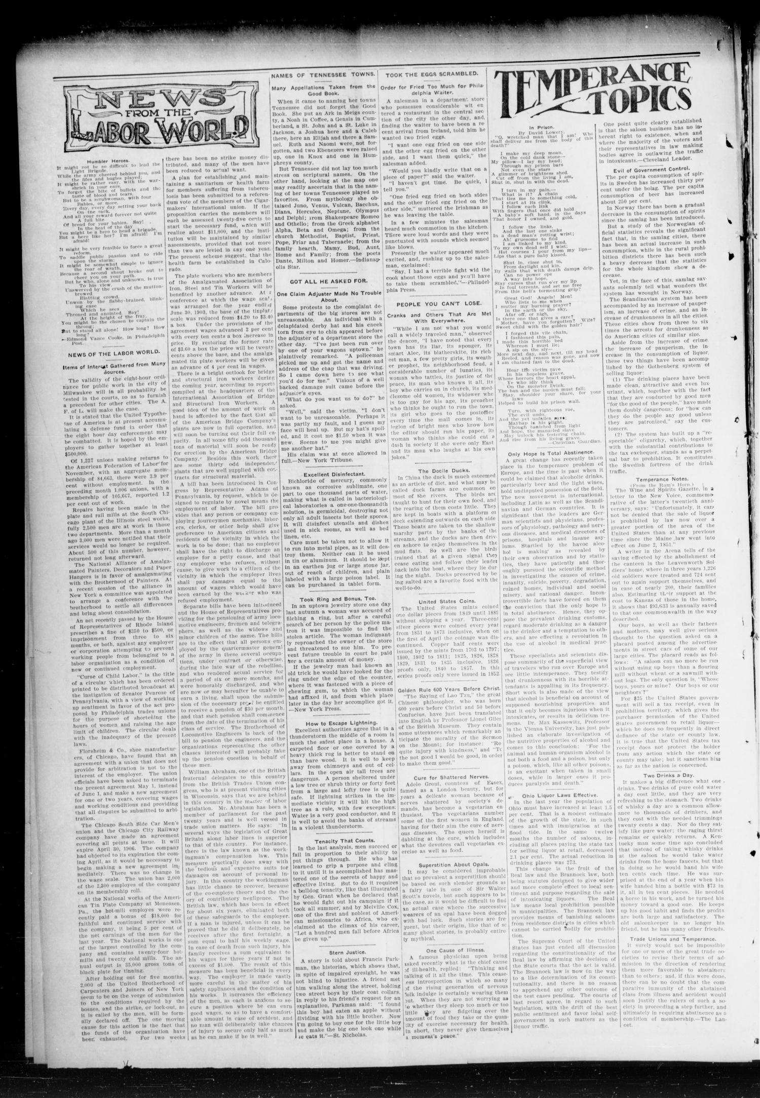 Chandler Daily Publicist. (Chandler, Okla. Terr.), Vol. 3, No. 264, Ed. 1 Friday, February 3, 1905                                                                                                      [Sequence #]: 4 of 4