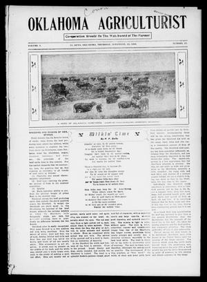 Primary view of object titled 'Oklahoma Agriculturist (El Reno, Okla.), Vol. 1, No. 17, Ed. 1 Thursday, November 15, 1906'.