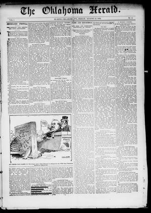 Primary view of The Oklahoma Herald. (El Reno, Okla. Terr.), Vol. 4, No. 9, Ed. 1 Friday, August 12, 1892