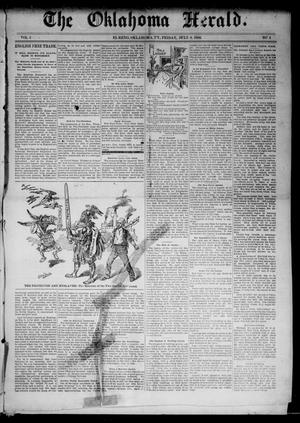 Primary view of object titled 'The Oklahoma Herald. (El Reno, Okla. Terr.), Vol. 4, No. 4, Ed. 1 Friday, July 8, 1892'.