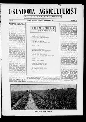 Primary view of Oklahoma Agriculturist (El Reno, Okla.), Vol. 1, No. 14, Ed. 1 Thursday, September 27, 1906