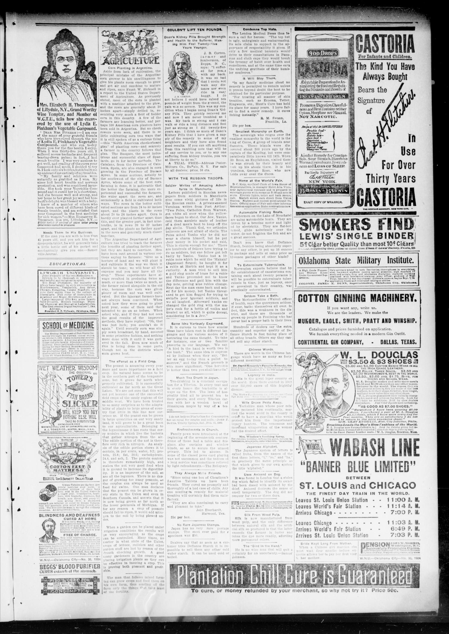 Chandler Daily Publicist. (Chandler, Okla. Terr.), Vol. 3, No. 138, Ed. 1 Saturday, September 10, 1904                                                                                                      [Sequence #]: 3 of 8