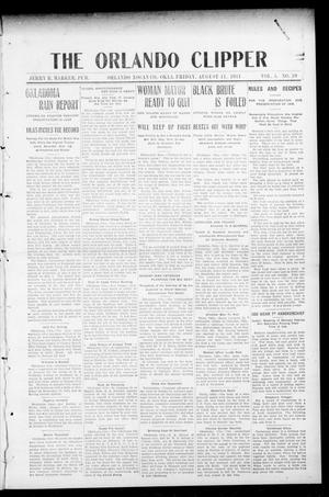 Primary view of object titled 'The Orlando Clipper (Orlando, Okla.), Vol. 5, No. 39, Ed. 1 Friday, August 11, 1911'.