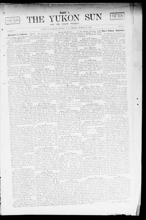 Primary view of object titled 'The Yukon Sun And The Yukon Weekly. (Yukon, Okla. Terr.), Vol. 9, No. 13, Ed. 1 Friday, March 29, 1901'.