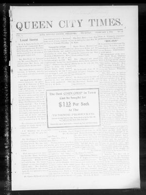 Primary view of object titled 'Queen City Times. (Agra, Okla.), Vol. 5, No. 21, Ed. 1 Thursday, February 2, 1911'.