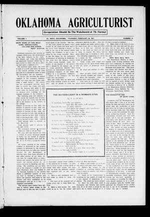 Primary view of object titled 'Oklahoma Agriculturist (El Reno, Okla.), Vol. 1, No. 24, Ed. 1 Thursday, February 28, 1907'.