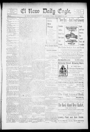 Primary view of object titled 'El Reno Daily Eagle. (El Reno, Okla.), Vol. 1, No. 2, Ed. 1 Friday, September 20, 1895'.