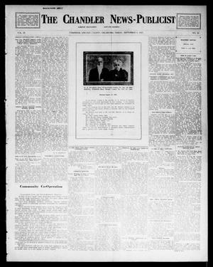 Primary view of object titled 'The Chandler News-Publicist (Chandler, Okla.), Vol. 22, No. 51, Ed. 1 Friday, September 5, 1913'.