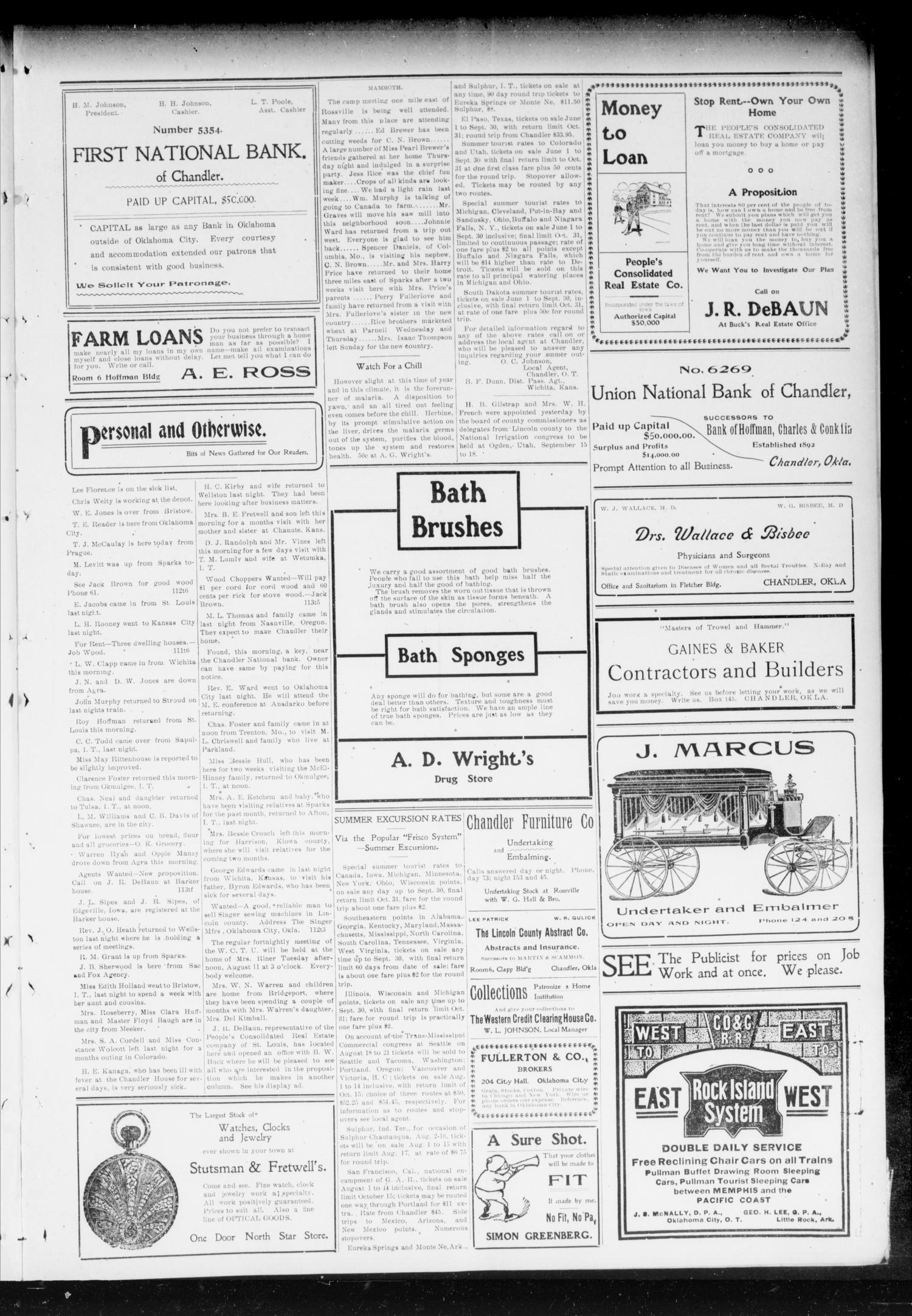 Chandler Daily Publicist. (Chandler, Okla. Terr.), Vol. 2, No. 113, Ed. 1 Tuesday, August 11, 1903                                                                                                      [Sequence #]: 3 of 4