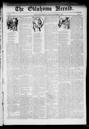 Primary view of object titled 'The Oklahoma Herald. (El Reno, Okla. Terr.), Vol. 4, No. 34, Ed. 1 Friday, September 30, 1892'.