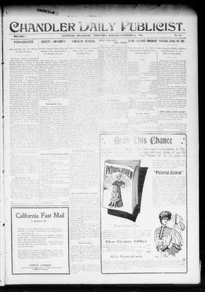 Primary view of object titled 'Chandler Daily Publicist. (Chandler, Okla. Terr.), Vol. 3, No. 266, Ed. 1 Monday, February 6, 1905'.