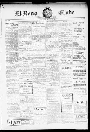 Primary view of object titled 'El Reno Daily Globe. And Evening Bell. (El Reno, Okla.), Vol. 8, No. 180, Ed. 1 Wednesday, March 25, 1903'.